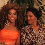 Jenifer Lewis (right) and DJ Pierce as Shangela in the web series 'Jenifer Lewis and Shangela.'