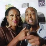 EURweb&#039;s Kymm Soden-Thornton and Miguel Nunez on the red carpet of &quot;The Izzy Show,&quot; Universal City, Calif. (Sept. 2, 2012)