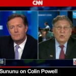 "John Sununu, co-chair for Mitt Romney campaign, charges Colin Powell with endorsing President Obama because he's of the ""same race"" on Piers Morgan Tonight, Thursday, October, 25, 2012."