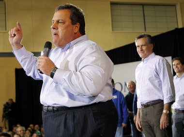 chris christie &amp; mitt romney
