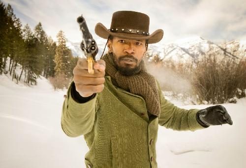 jamie foxx (as cowboy with gun in 'django')