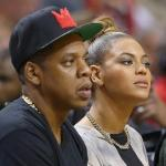 jay-z & beyonce courtside