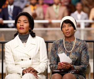 (L to R) Angela bassett and mary J Blige in a scene from the Lifetime Original Movie 'Betty & Coretta.'