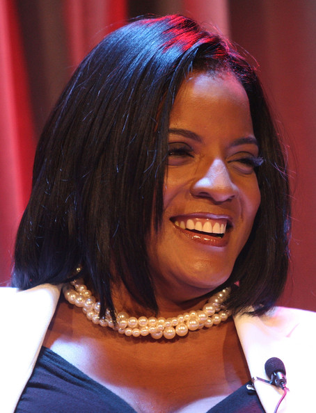 "Valerie Ervin president of the Ray Charles Foundation, speaks during the ""Yes Indeed! Ray Charles"" a photographic restrospective by Joe Adams at The Grammy Museum on May 12, 2009 in Los Angeles, California"
