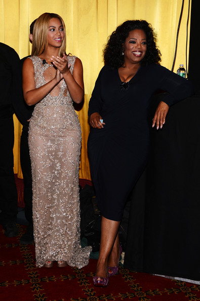 "Beyonce and Oprah Winfrey attend the HBO Documentary Film ""Beyonce: Life Is But A Dream"" New York Premiere at the Ziegfeld Theater on February 12, 2013 in New York City"