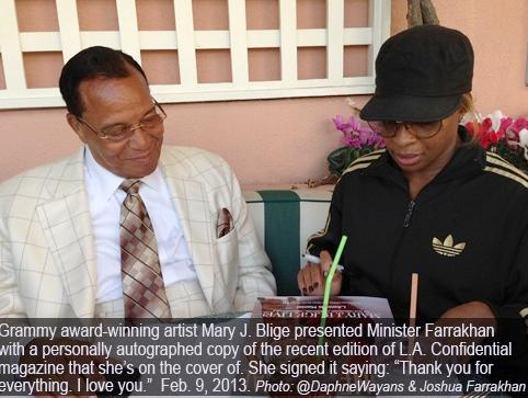minister farrakhan &amp; mary j blige