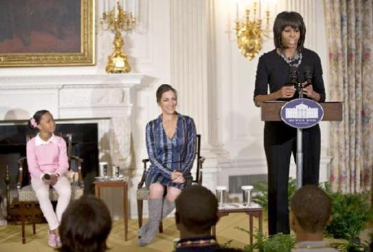 michelle obama &amp; beasts of the southern wild a the white house