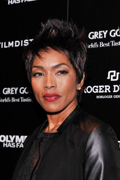 "Actress Angela Bassett attends The Cinema Society with Roger Dubuis and Grey Goose screening of FilmDistrict's ""Olympus Has Fallen"" at Tribeca Grand Hotel on March 11, 2013 in New York City"