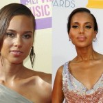 Alicia Keys (L) and Kerry Washington
