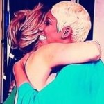 kim and nene hug
