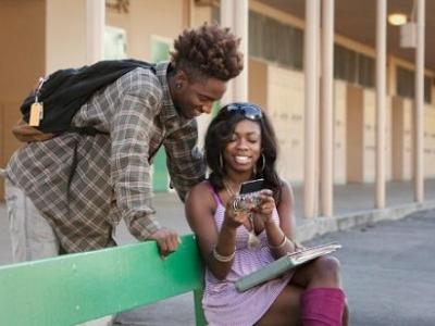 black teens & smartphone