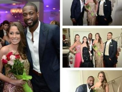 dwyane wade &amp; prom date
