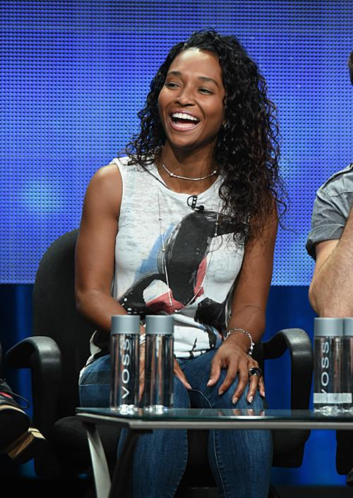 "Rozonda ""Chilli"" Thomas speaks during the ""Fake Off"" portion of the 2014 TCA Turner Broadcasting Summer Press Tour Presentation at The Beverly Hilton on July 10, 2014 in Los Angeles, California"