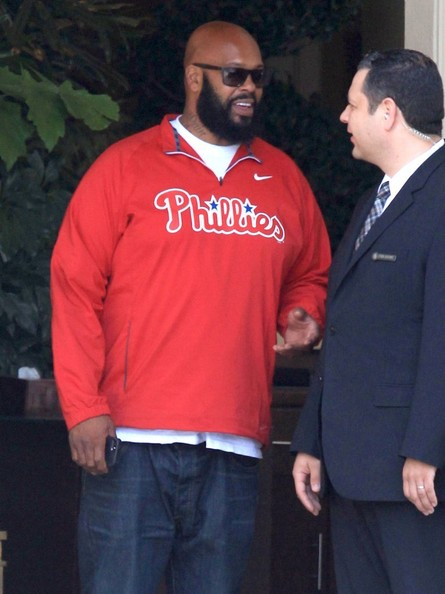 Music mogul Suge Knight waiting for his car at the valet station at the Four Seasons Hotel in Beverly Hills, California on April 17, 2014