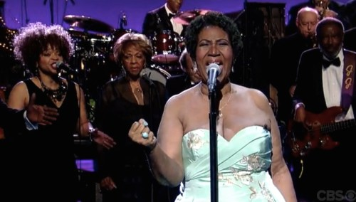 Aretha and Letterman