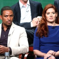 Debra Messing's Awkward Comment about Laz Alonso and Guns (Listen)