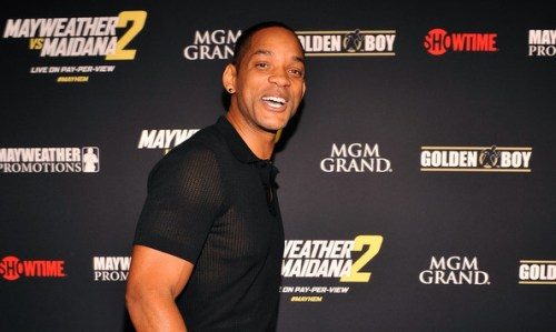 """Actor Will Smith arrives at Showtime's VIP prefight party for """"Mayhem: Mayweather vs. Maidana 2"""" at the MGM Grand Garden Arena on September 13, 2014 in Las Vegas, Nevada"""