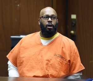 """Marion """"Suge"""" Knight appears for a hearing at the Clara Shortridge Foltz Criminal Justice Center March 9, 2015 in Los Angeles, California"""