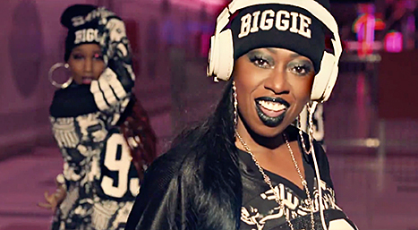 "Missy Elliott in her video for ""WTF (Where They From)"""
