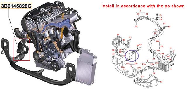 TURBO INTERCOOLER HOSE PIPE For VW PASSAT B5 SKODA 19 TDI AWX AVF