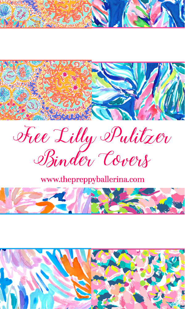 Lilly Pulitzer Binder Covers 2017 \u2014 Free, Cute, Printable Binder Covers!