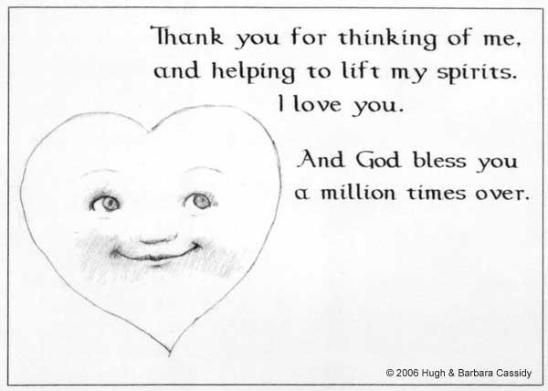 Eva Cassidy Artwork Thank-you Note