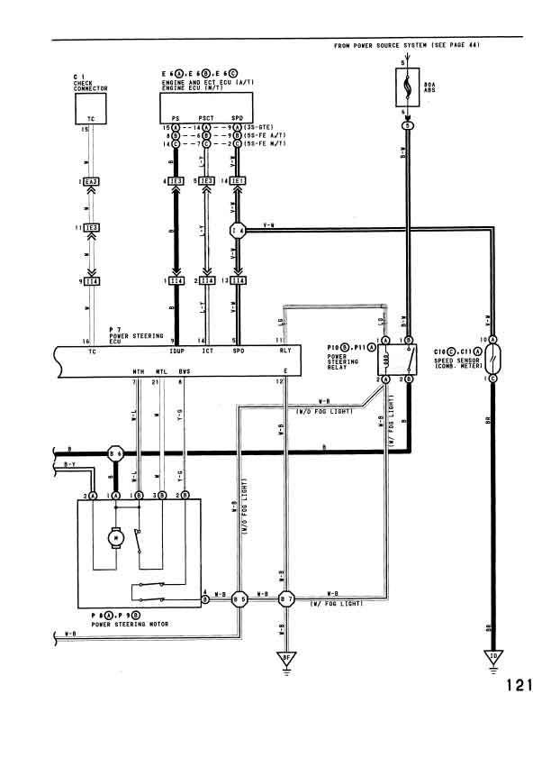 Toyota Power Steering Pump Diagram Wiring Schematic Diagram