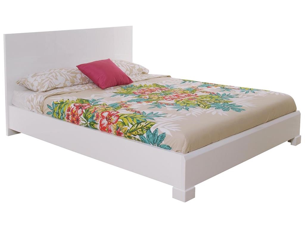 Queen Bed Barrie 9511e Queen Bed White High Gloss