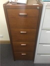 4 Drawer Timber Filing Cabinet