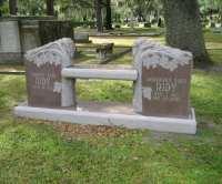 Granite Memorial Benches - Evans Monument Company