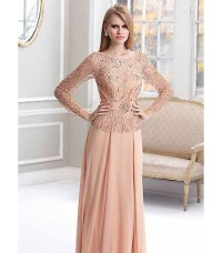 Terani Couture M1819 Peach Formal Evening Gown Dress Size ...