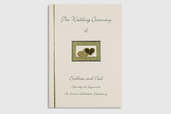 Handmade wedding ceremony booklets / mass booklets Ireland Eventful