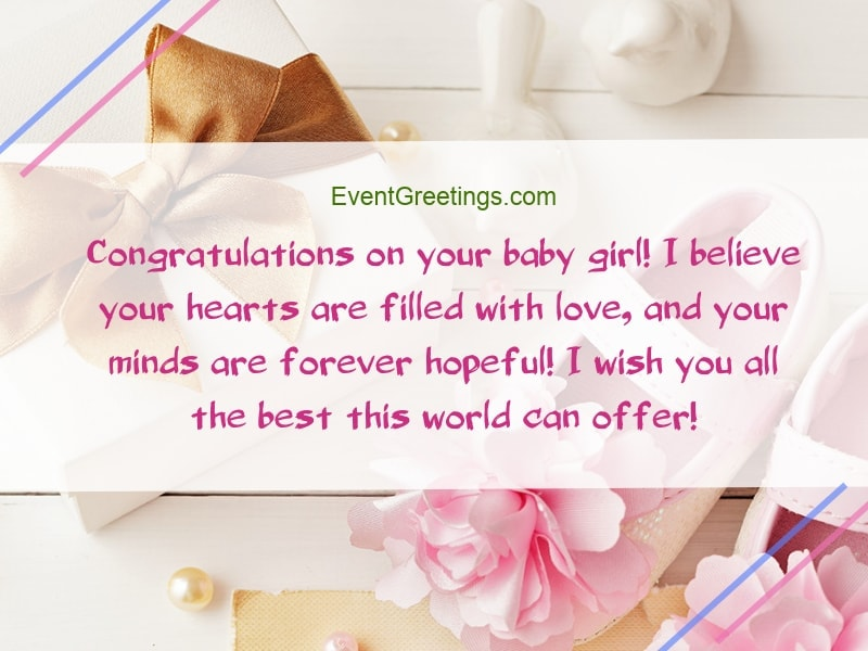 New Baby Girl Wishes, Quotes And Congratulation Messages \u2013 Events