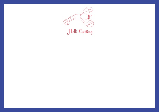 Hello lobster - Correspondence Cards - online note cards