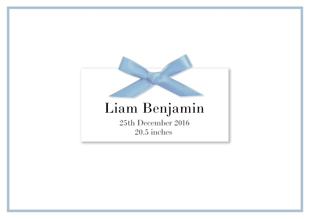 Ribbon blue Eton - Birth Announcements