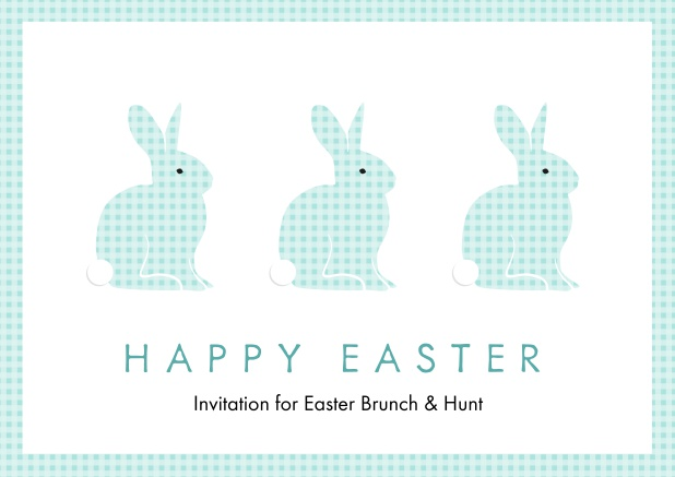 Blue Easter bunnies - Easter
