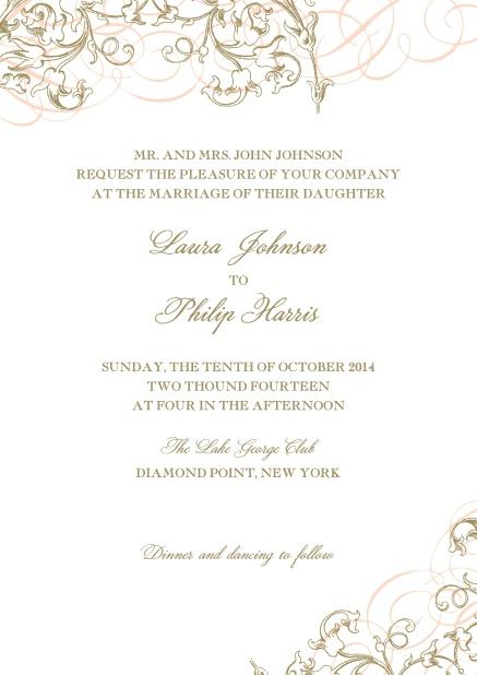 Delicate  Ornate - Wedding invitation cards