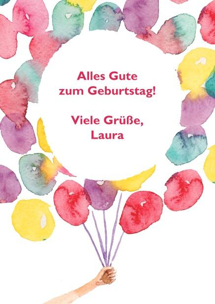 Tausend Ballons - Geburtstagskarten