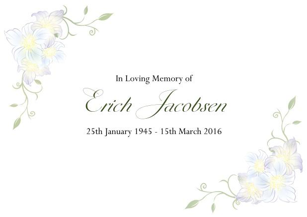Beautiful Life - Memorial invitations