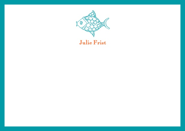 Dear fish - Correspondence Cards - online note cards