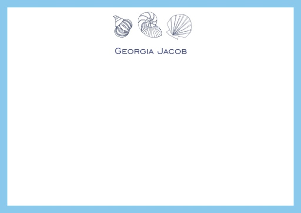 Hear the ocean - Correspondence Cards - online note cards
