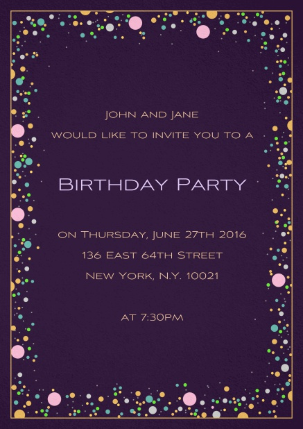 Birthday Bubbles - Birthday invitations