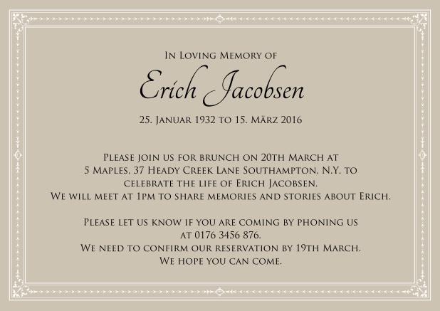 Present forever - Memorial invitations