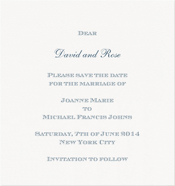 Manchester Mansion - Classic invitation cards