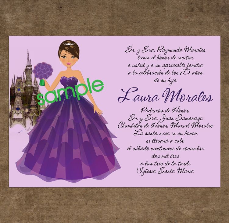 quinceanera invitations samples -
