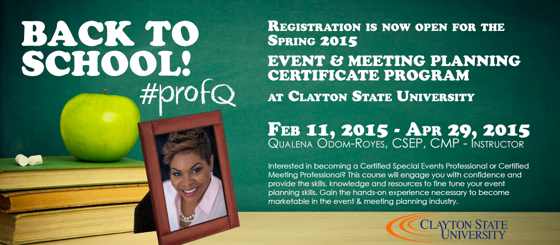 event planning certificate class