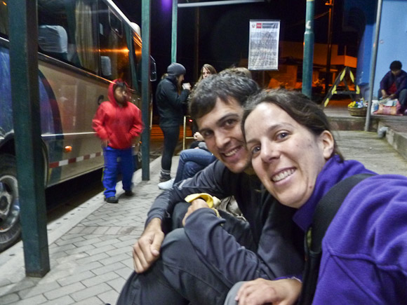 travel to machu picchu - get on the first bus in the morning