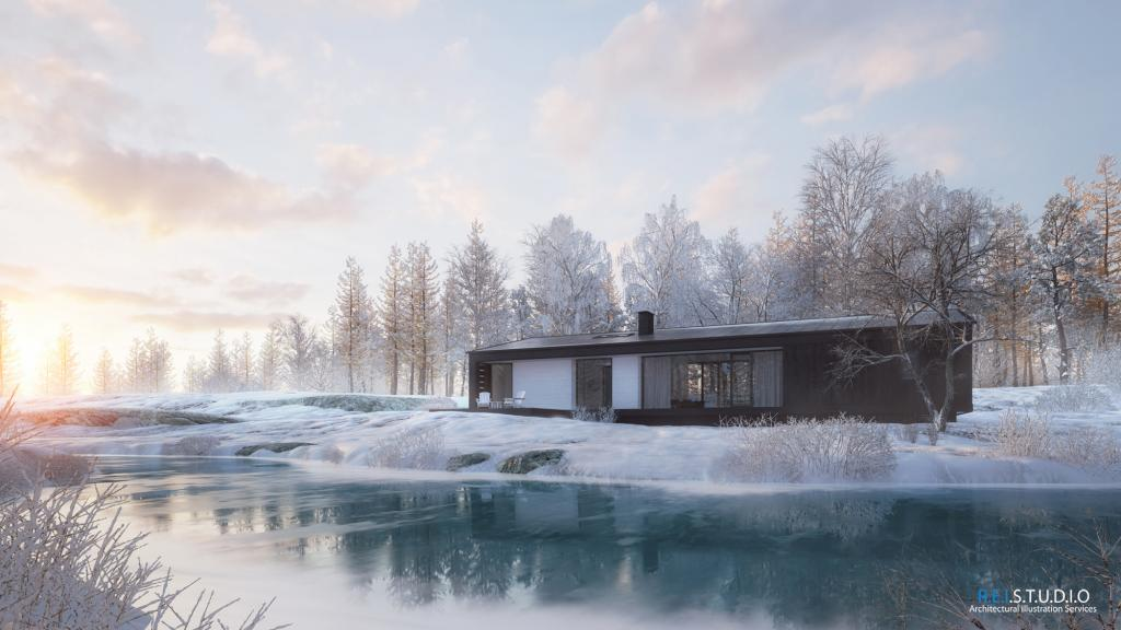 3d Roof Wallpaper Making Of Winter In My Mind Evermotion