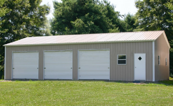 Three Car Steel Garage Building Kit Price