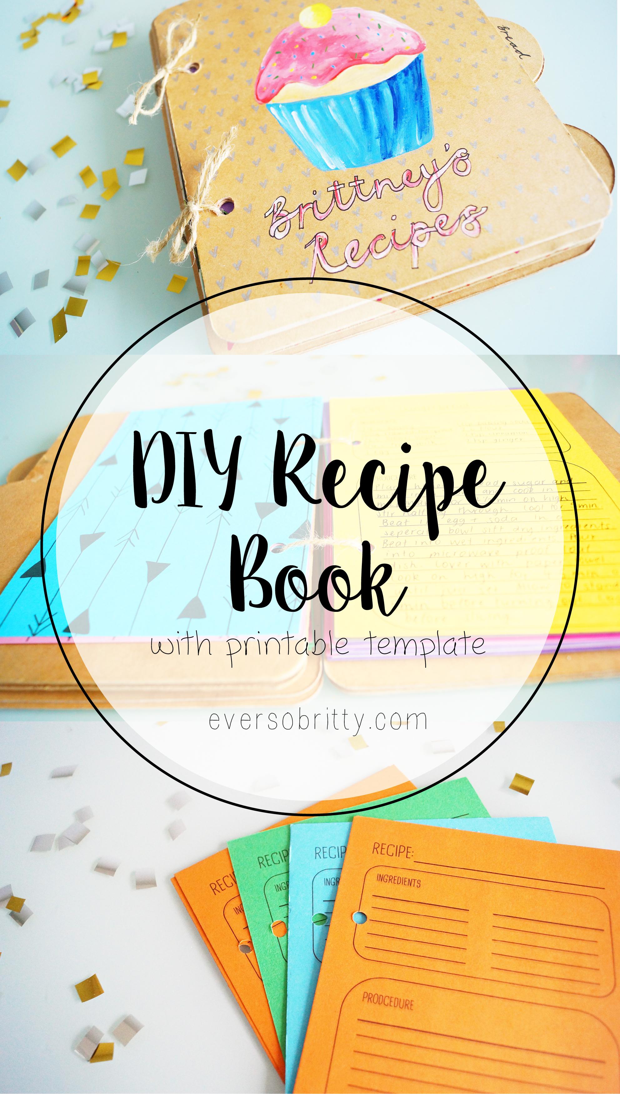 Diy Book Cover Template : Diy recipe book